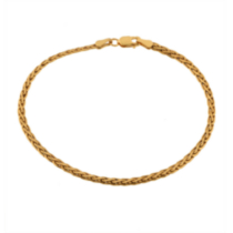10 K Gold Wheat Chain bracelet - 7.25""