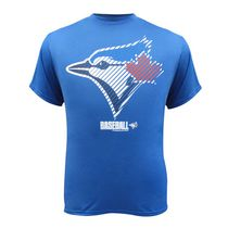 Toronto Blue Jays Men's Striped Baseball Short Sleeve T-Shirt S
