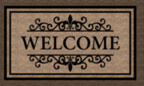 18x30 Baroque Welcome