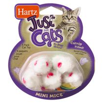 Hartz Just For Cats Mini Mice 5 Pack Cat Toy