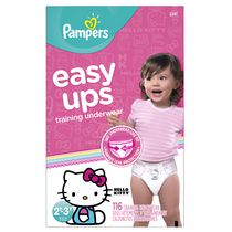 Pampers Easy Ups Training Underwear for Girls, Giant Pack 2T-3T