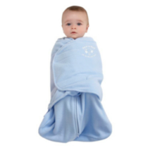 Halo Innovations Safe Dreams Swaddle Wearable Fleece Blanket French Blue