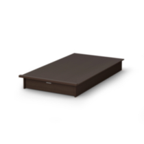 South Shore SoHo Twin Platform Bed (39'') with Drawer Brown
