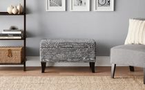 hometrends Printed Storage Ottoman