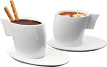 DeaGourmet Vento Collection Set of 2 Tea Cups & 2 Saucers
