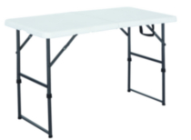 GSC 4' Centerfolding Table - White
