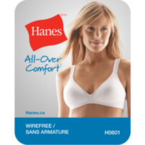 Hanes All Over Comfort microfiber wire free bra Beige/bisque 38B