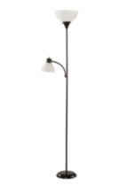Floor Lamp with Reading Light Black