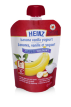 Heinz Junior Banana Vanilla Yogurt Pouch