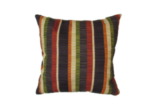 "Decorative 16"" Throw cushion, Allard Onyx Stripe"