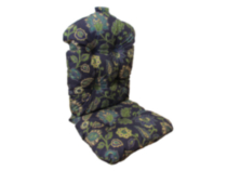 Deluxe Reversible Highback Cushion, Prague Marine