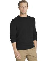 Arrow Men's Cable Button Mock Neck Sweater Large