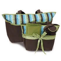 Babyboom 5-in-1 Diaper bag brown/green