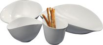 DeaGourmet Soffio 4-Piece White Serving Set