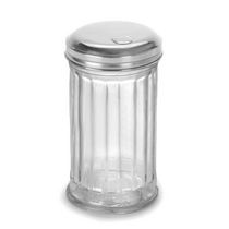 Anchor Hocking Glass sugar shaker with stainless steel lid