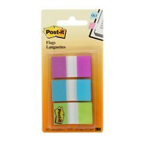 Languettes adhésives de Post-itMD en couleurs assorties