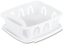 Sterilite Small 2 Piece White Sink Set
