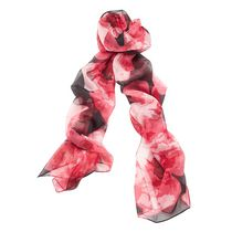 George Women's Oblong Printed Scarf Red