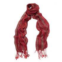 George Women's Wrap Printed Scarf Red