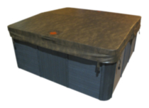 "Canadian Spa Co. 5""/3"" Tapered Brown Spa Cover 78in x 78in"