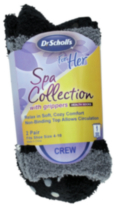 Dr.Scholl's Ladies Spa Crew -2 Pairs Black