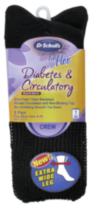 Dr.Scholls Ladies Extra Wide Crew Diabetic & Circulatory -2 pairs Black