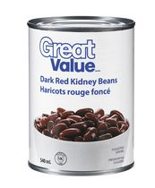 Haricots rouge foncé de Great Value