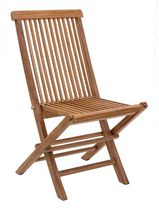 Zuo Modern Outdoor 2-Piece Teak Natural Regatta Folding Chair