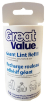 Great Value Giant Lint Refill 60 Extra Large Sheets