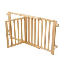 Blue Beagle Deluxe Walk Over Wooden Pet Gate