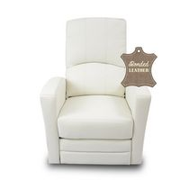 Kidilove Habana Bonded Leather Glider Baby Chair White