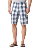 Signature by Levi Strauss & Co - Cargo Shorts - Tartan bleu / blanc 40
