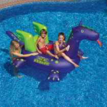 Giant Sea Dragon 9-ft Inflatable Ride-On Pool Toy