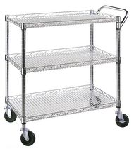 Seville Classics 3 Shelf Commercial Utility Carts