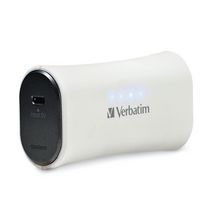 Verbatim 2200mAh Portable Power Pack - White