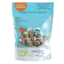 Zoe Lifestyle Treats for Dogs - Antioxidant Dental Chews, Small (229 g / 8.1 oz)
