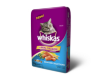 Whiskas Real Salmon Dry Adult Seafood Selections for Cat 9.1kg