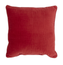 Geo Quilted Cushion Red