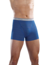 4 PK Men Trunk Brief, Stripes & Heathers. Large