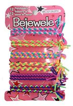 Bejeweled Braided Elastic Ponytail Holders