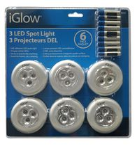 Iglow LED Spot Light - Pack of 6