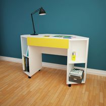 Nexera Taxi Mobile Corner Desk with Drawer