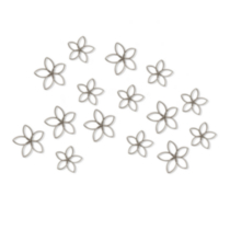 Florette Wall Décor Set of 15 - Nickel