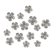 Décoration murale Bloom - ensemble de 15 pièces, nickel