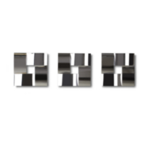 Weave Wall Tile Set of 3 Chrome