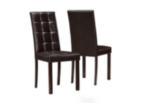 Monarch Specialities Dark Brown Leather Look Dining Chairs