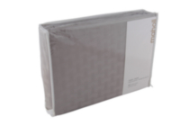 Maholi Bamboo Pattern 400 TC Cotton Duvet Cover Set Grey King