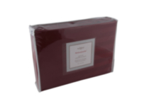 Ambassador 300 Thread Count Maholi Damask Stripe Cotton Sheet Set Red Twin