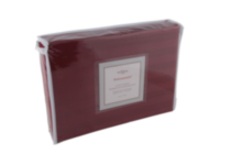 Ensemble housse de couette 300 fp de Damask de Ambassador Rouge Grand lit