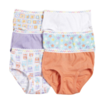 Fruit of the Loom Toddler Girls 6-Pack Brief 2T-3T